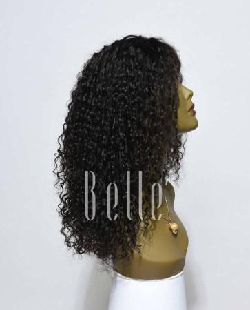 Swiss Lace Front Wigs 100% Premium Peruvian Virgin Hair 10mm Curl