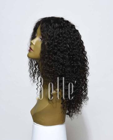Silk Top Lace Front Wigs 100% Premium Mongolian Virgin Hair 10mm Curl