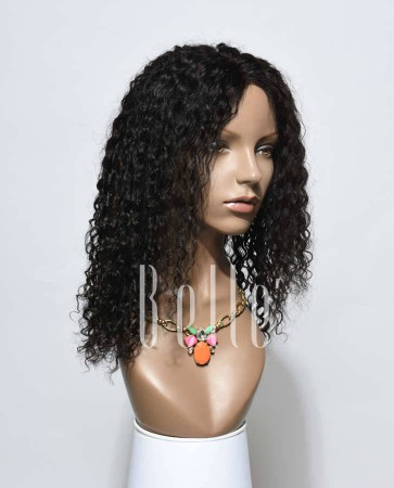 Swiss Lace Front Wigs 100% Premium Indian Virgin Hair 10mm Curl