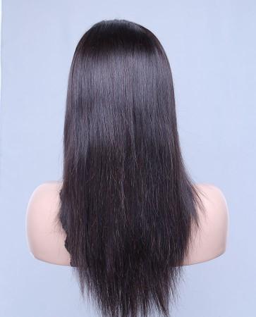 Silky Straight 100% Best Brazilian Virgin Hair Lace Front Wig In Stock