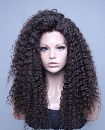 Deep Wave 100% High Quality Brazilian Virgin Hair Lace Front Wig