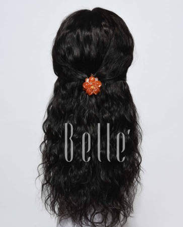 100% Premium Indian Remy Hair Lace Front Wig 25mm Curl Easy Apply