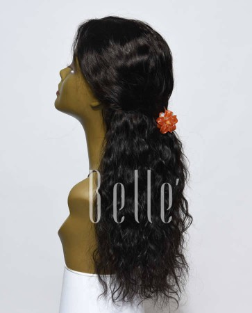 100% First Grade Peruvian Virgin Hair Lace Front Wig 25mm Curl Easy Apply