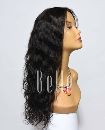 25mm Curl 100% Premium Chinese Virgin Hair Silk Top Lace Front Wig