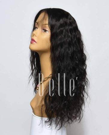100% Premium Mongolian Virgin Hair Silk Top Lace Front Wig 25mm Curl