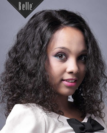 "100% Premium Malaysian Virgin Hair 4""x4"" Silk Top Full Lace Wig 25mm Curl"