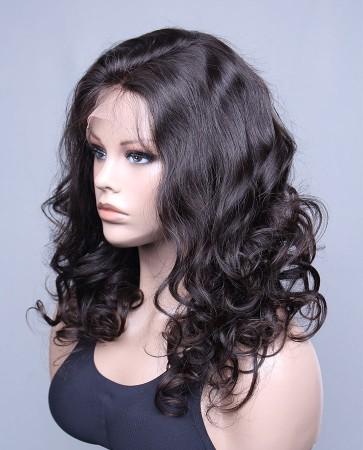 Beautiful European Curly 100% Premium Brazilian Human Hair Lace Front Wig