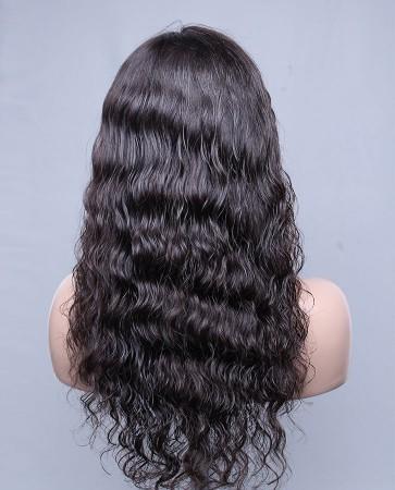 100% Best Human Hair Brazilian Virgin Hair Lace Front Wig Deep Body Wave