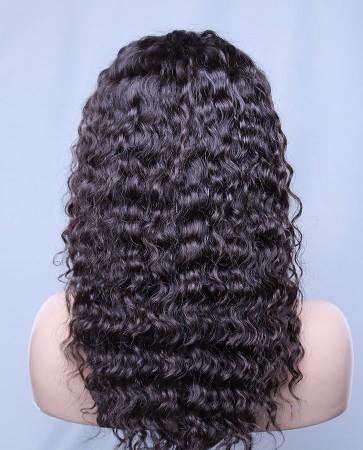 Durable 100% Human Hair Brazilian Virgin Hair Lace Front Wig Brazilian Curl