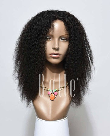 High Quality African American Wig Indian Remy Hair Lace Front Wig Afro Curl