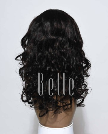 Most Popular Indian Remy Hair Silk Top Lace Front Wig Beyonce Wave