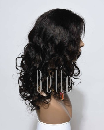 "Most Popular Mongolian Virgin Hair 4""x4"" Silk Top Lace Front Wig Beyonce Wave"