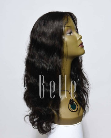 """Body Wave 100% Premium Peruvian Virgin Hair Lace Front Wig With 4""""x4"""" Silk Base Closure"""