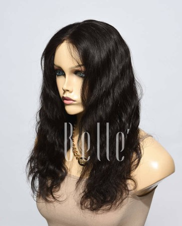 100% Premium Indian Virgin Hair Silk Top Lace Front Wig Body Wave In Stock