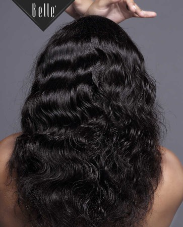 100% Premium Indian Remy Hair Silk Top Full Lace Wig Body Wave In Stock