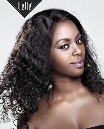 Brazilian Curl 100% Human Hair Peruvian Virgin Hair Silk Top Full Lace Wig Hot-selling
