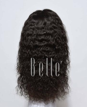 100% Human Hair Mongolian Virgin Hair Silk Top Lace Front Wig Brazilian Curl Hot-selling