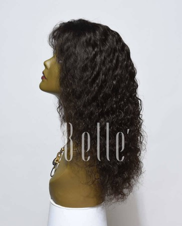Brazilian Curl 100% Human Hair Malaysian Virgin Hair Silk Top Lace Front Wig Hot-selling