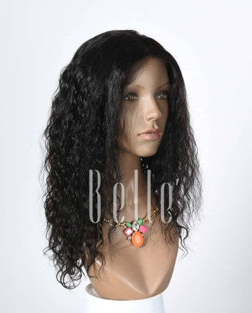 100% Human Hair Indian Virgin Hair Lace Front Wig Brazilian Curl Hot-selling