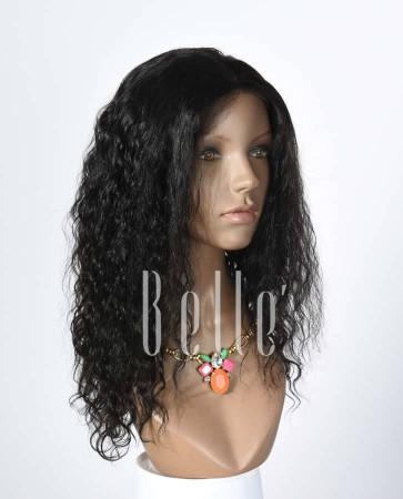Brazilian Curl 100% Human Hair Peruvian Virgin Hair Silk Top Lace Front Wig Hot-selling