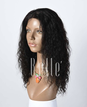 Brazilian Curl 100% Human Hair Chinese Virgin Hair Silk Top Lace Front Wig Hot-selling