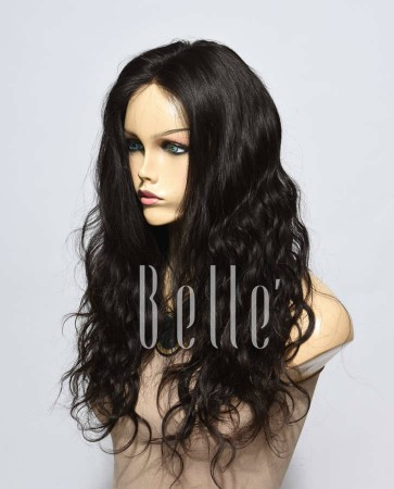 Swiss Lace Front Wigs 100% Premium Peruvian Virgin Hair Brazilian Wave