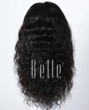 100% Best Human Hair Indian Virgin Hair Silk Top Full Lace Wig Deep Body Wave
