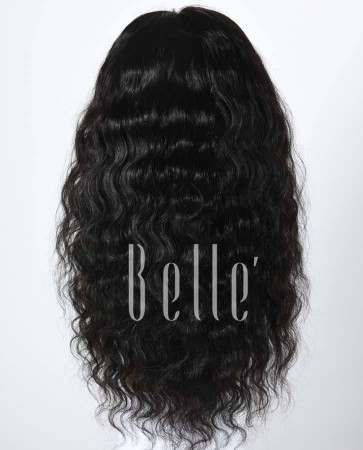 100% Best Human Hair Indian Remy Hair Silk Top Full Lace Wig Deep Body Wave