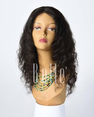 Deep Body Wave 100% Best Human Hair Peruvian Virgin Hair Silk Top Full Lace Wig