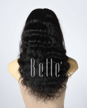 100% Best Human Hair Indian Virgin Hair Silk Top Lace Front Wig Deep Body Wave