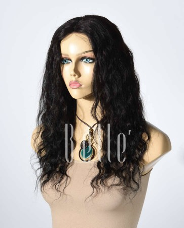 100% Best Human Hair Peruvian Virgin Hair Lace Front Wig Deep Body Wave