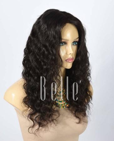 100% Best Human Hair Mongolian Virgin Hair Lace Front Wig Deep Body Wave