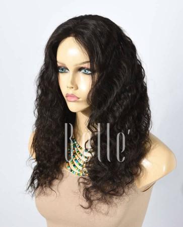 100% Best Human Hair Mongolian Virgin Hair Silk Top Lace Front Wig Deep Body Wave