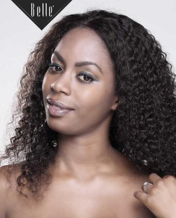 "Deep Wave 100% Peruvian Virgin Hair 4""x4"" Silk Top Full Lace Wig Invisible Knots"