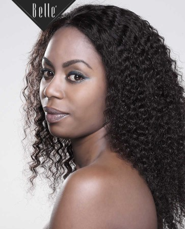 Deep Wave 100% Hand-tied Silk Top Full Lace Wig Malaysian Virgin Hair Invisible Knots