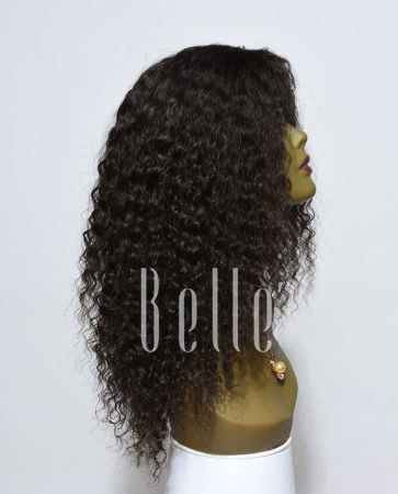 Deep Wave 100% Malaysian Virgin Hair Silk Top Lace Front Wig Invisible knots