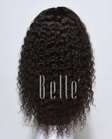 Deep Wave 100% Mongolian Virgin Hair Lace Front Wig Durable