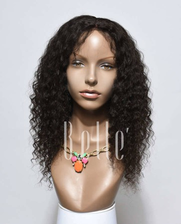 Deep Wave 100% Chinese Virgin Hair Lace Front Wig With Natural Looking Baby Hair
