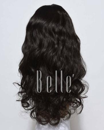European Curly 100% Premium Human Hair Silk Top Lace Front Wig Peruvian Virgin Hair