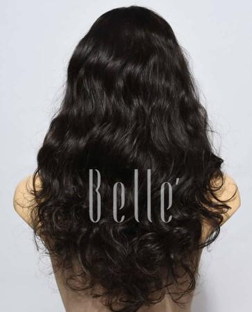 European Curly 100% Premium Human Hair Silk Top Lace Front Wig Indian Virgin Hair