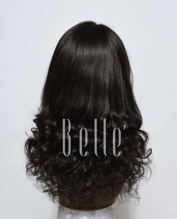 Half Spiral Curl Most Natural looking Silk Top Full Lace Wig Brazilian Virgin Hair