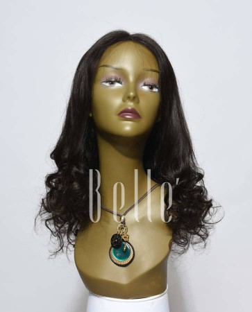 Half Spiral Curl Most Natural looking Silk Top Lace Front Wig Indian Virgin Hair