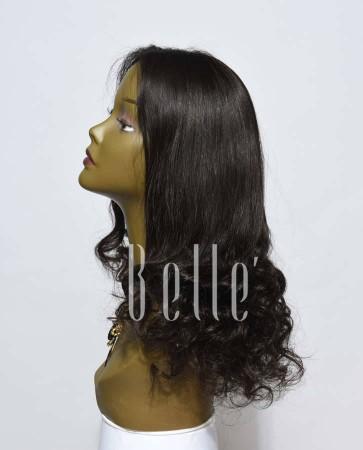 Half Spiral Curl Most Natural looking Silk Top Lace Front Wig Peruvian Virgin Hair
