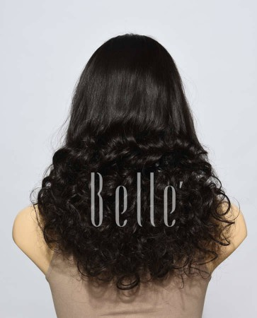 Half Spiral Curl High-end Swiss Lace Front Cap Wig Peruvian Virgin Hair