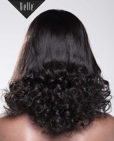 Half Spiral Curl Most Natural looking Silk Top Lace Front Wig Free Parting Brazilian Virgin Hair