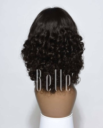 Glueless Full Lace Wigs Indian Remy Hair Half Tight Spiral Curl