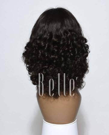 Best Indian Virgin Hair Half Tight Spiral Curl Silk Top Full Lace Wig