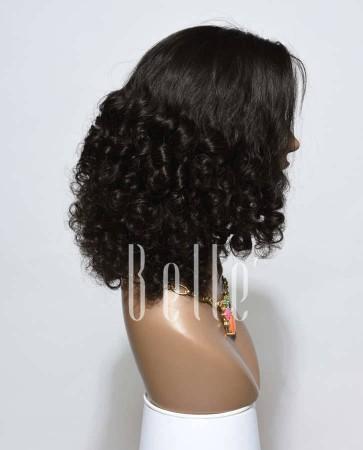 Half Tight Spiral Curl Best Peruvian Virgin Hair Silk Top Full Lace Wig