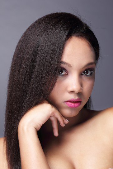 Kinky Straight 7A Brazilian Virgin Hair Full Lace Wig In Stock