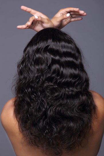 100% Best Human Hair Brazilian Virgin Hair Full Lace Wig Deep Body Wave